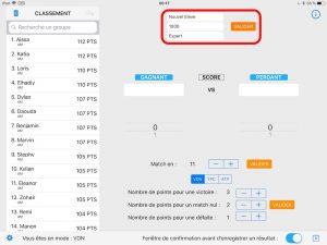 MatchPTS - Enregistrer un joueur