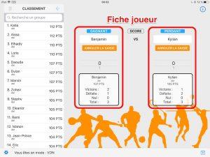 MatchPTS - Fiche joueur