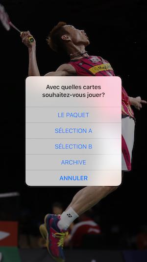 CartEduc Badminton Le choix
